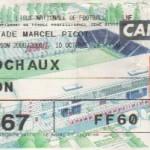 Billet Nancy-Sochaux - Saison 2000-2001 - D2 (14e j., 10/10/2000)