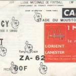 Billet Lorient-Nancy - Saison 2000-2001 - D2 (17e j., 28/10/2000)