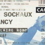Billet Sochaux-Nancy - Saison 2000-2001 - D2 (32e j., 21/03/2001)