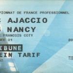 Billet Ajaccio-Nancy - Saison 2001-2002 - D2 (1re j., 28/07/2001)