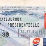 Billet Nancy-Chateauroux - Saison 2001-2002 - D2 (13e j., 20/10/2001)