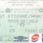 Billet St-Étienne-Nancy - Saison 2001-2002 - D2 (18e j., 28/11/2001)