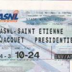 Billet Nancy-St-Étienne - Saison 2001-2002 - D2 (36e j., 13/04/2002)