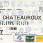 Billet Nancy-Châteauroux - Saison 2002-2003 - Coupe de la Ligue (tour préliminaire, 1er match, 06/11/2002)
