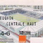 Billet Nancy-Gueugnon - Saison 2002-2003 - L2 (10e j., 28/09/2002)