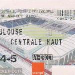 Billet Nancy-Toulouse - Saison 2002-2003 - L2 (12e j., 19/10/2002)