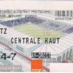 Billet Nancy-Metz - Saison 2002-2003 - L2 (14e j., 03/11/2002)