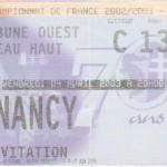 Billet Metz-Nancy - Saison 2002-2003 - L2 (32e j., 04/04/2003)