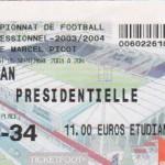Billet Nancy-Sedan - Saison 2003-2004 - L2 (7e j., 05/09/2003)