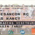 Billet Besançon-Nancy - Saison 2003-2004 - L2 (10e j., 27/09/2003)