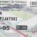 Billet Nancy-Caen - Saison 2003-2004 - L2 (19e j., 20/12/2003)