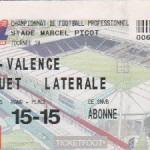 Billet Nancy-Valence - Saison 2003-2004 - L2 (24e j., 14/02/2004)