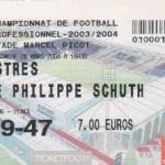 Billet Nancy-Istres - Saison 2003-2004 - L2 (30e j., 28/03/2004)