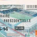 Billet Nancy-Le Havre - Saison 2003-2004 - L2 (38e j., 22/05/2004)