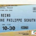 Billet Nancy-Reims - Saison 2004-2005 - Coupe de la Ligue (1er tour, 08/10/2004)