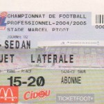 Billet Nancy-Sedan - Saison 2004-2005 - L2 (2e j., 13/08/2004)