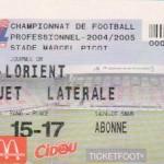 Billet Nancy-Lorient - Saison 2004-2005 - L2 (8e j., 17/09/2004)