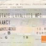Billet Laval-Nancy - Saison 2004-2005 - L2 (9e j., 21/09/2004)