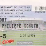 Billet Nancy-Niort - Saison 2004-2005 - D2 (11e j., 01/10/2004)