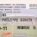 Billet Nancy-Reims - Saison 2004-2005 - L2 (15e j., 05/11/2004)