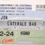 Billet Nancy-Dijon - Saison 2004-2005 - L2 (23e j., 11/02/2005)