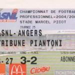 Billet Nancy-Angers - Saison 2004-2005 - L2 (25e j., 04/02/2005)