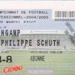 Billet Nancy-Guingamp - Saison 2004-2005 - L2 (28e j., 04/03/2005)
