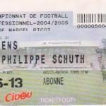 Billet Nancy-Amiens - Saison 2004-2005 - L2 (30e j., 20/03/2005)