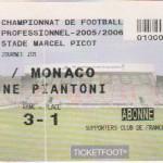 Billet Nancy-Monaco - Saison 2005-2006 - L1 (1re j., 30/07/2005)