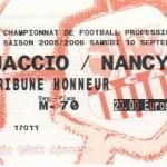 Billet Ajaccio-Nancy - Saison 2005-2006 - L1 (6e j., 10/09/2005)