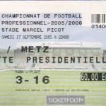 Billet Nancy-Metz - Saison 2005-2006 - L1 (7e j., 17/09/2005)