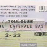 Billet Nancy-Toulouse - Saison 2005-2006 - L1 (11e j., 15/10/2005)
