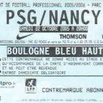 Billet Paris SG-Nancy - Saison 2005-2006 - L1 (12e j., 22/10/2005)