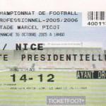 Billet Nancy-Nice - Saison 2005-2006 - L1 (13e j., 30/10/2005)