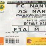 Billet Nantes-Nancy - Saison 2005-2006 - L1 (14e j., 05/11/2005)