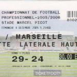 Billet Nancy-Marseille - Saison 2005-2006 - L1 (17e j., 04/12/2005)