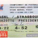 Billet Nancy-Strasbourg - Saison 2005-2006 - L1 (18e j., 10/12/2005)