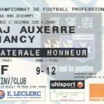 Billet Auxerre-Nancy - Saison 2005-2006 - L1 (19e j., 17/12/2005)