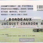 Billet Nancy-Bordeaux - Saison 2005-2006 - L1 (20e j., 04/01/2006)