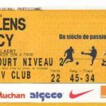 Billet Lens-Nancy - Saison 2005-2006 - L1 (21e j., 11/01/2006)