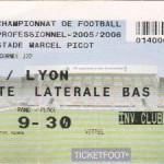 Billet Nancy-Lyon - Saison 2005-2006 - L1 (22e j., 14/01/2006)