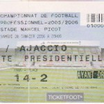 Billet Nancy-Ajaccio - Saison 2005-2006 - L1 (24e j., 28/01/2006)