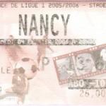 Billet Metz-Nancy - Saison 2005-2006 - L1 (25e j., 04/02/2006) exemplaire 1