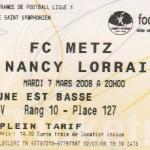 Billet Metz-Nancy - Saison 2005-2006 - L1 (25e j., 04/02/2006) exemplaire 2