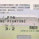 Billet Nancy-Paris SG - Saison 2005-2006 - L1 (30e j., 11/03/2006)