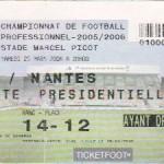 Billet Nancy-Nantes - Saison 2005-2006 - L1 (32e j., 25/03/2006)