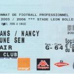 Billet Le Mans-Nancy - Saison 2005-2006 - L1 (33e j., 02/04/2006)