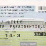 Billet Nancy-Lille - Saison 2005-2006 - L1 (34e j., 08/04/2006)