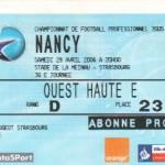 Billet Strasbourg-Nancy - Saison 2005-2006 - L1 (36e j., 29/04/2006)