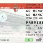 Billet Monaco-Nancy - Saison 2005-2006 - L1 (38e j., 13/05/2006)